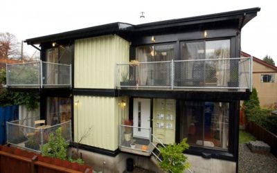 Homes Using Old Shipping Containers House Above Just One
