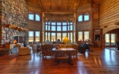 Log Home Tour Whitefish Estate