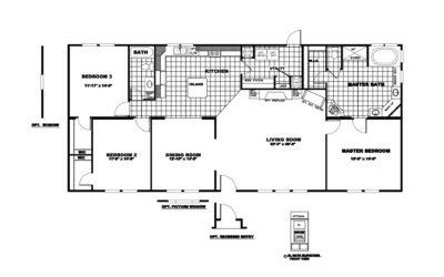 Manufactured Home Floor Plan Clayton Classic Pine Crest