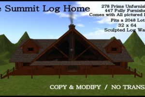 Second Life Marketplace Summit Log Home